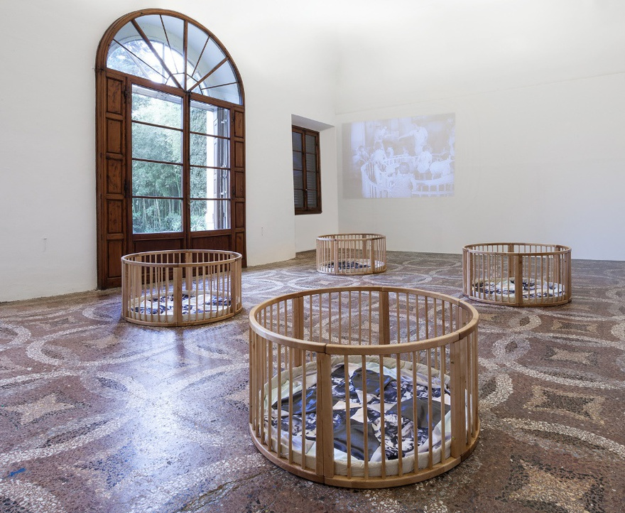 Exhibition view, Swaddling the Baby, 2015, Villa Romana, Florence.