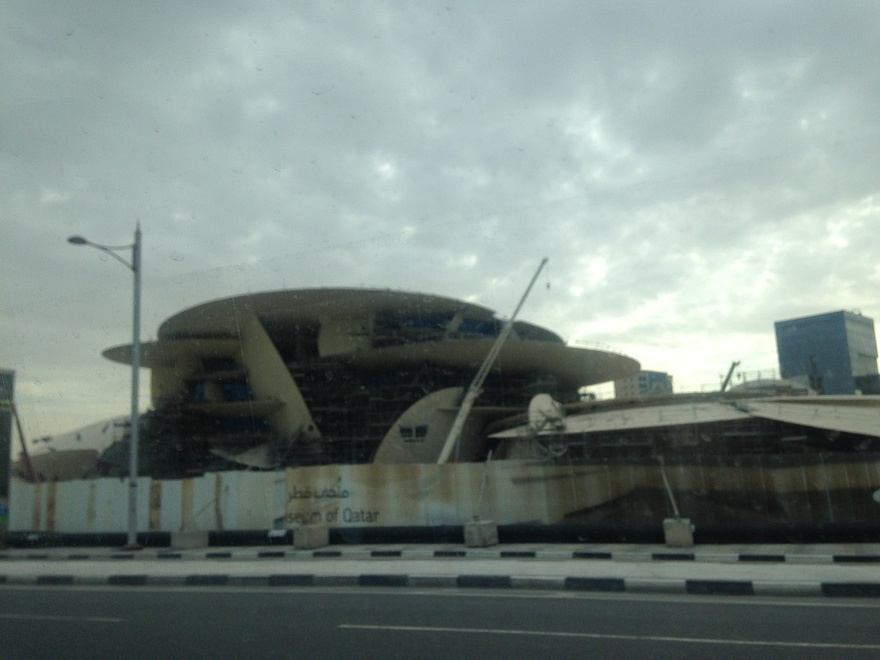 National Museum of Qatar under construction, 14 March 2016.