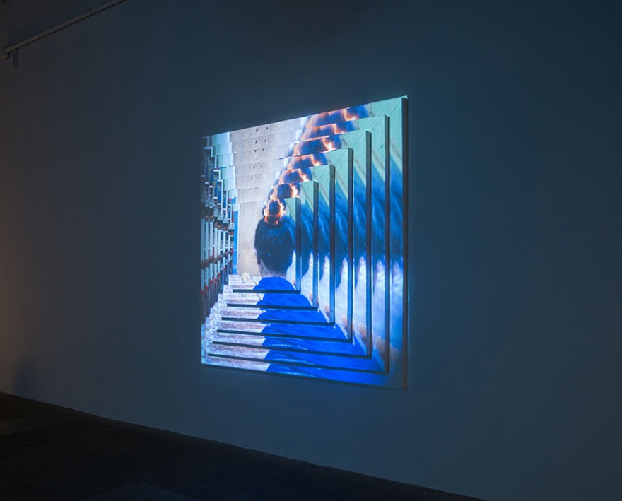Meriem Bennani, Gradual Kingdom, 2015. Two-projection mapped digital videos on styrofoam screens with sound.
