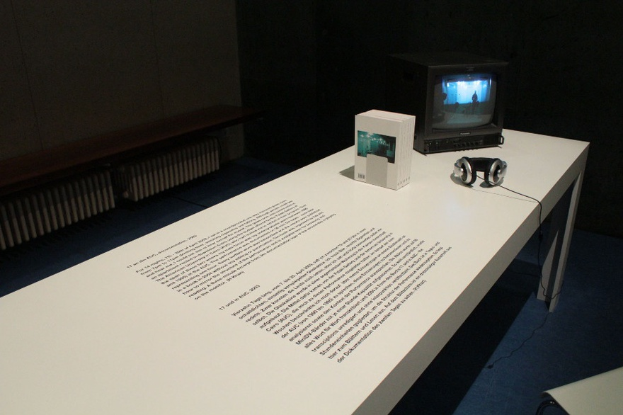 Hassan Khan, 17 and in AUC, installation view at FORMER WEST conference at HKW Berlin, 2013.