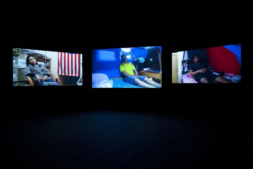 Chia-En Jao, REM Sleep, 2011. Three-channel video with sound, 63 min 42 sec.