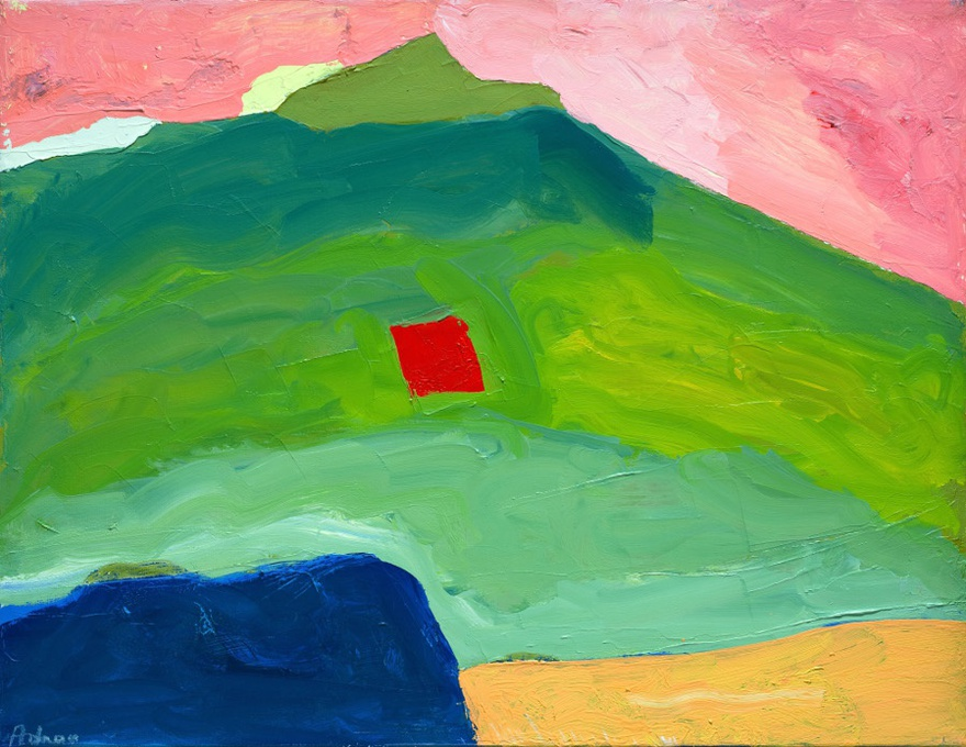 Etel Adnan, Untitled, ca.1995-2000, oil on canvas, 35 x 45.5cm.