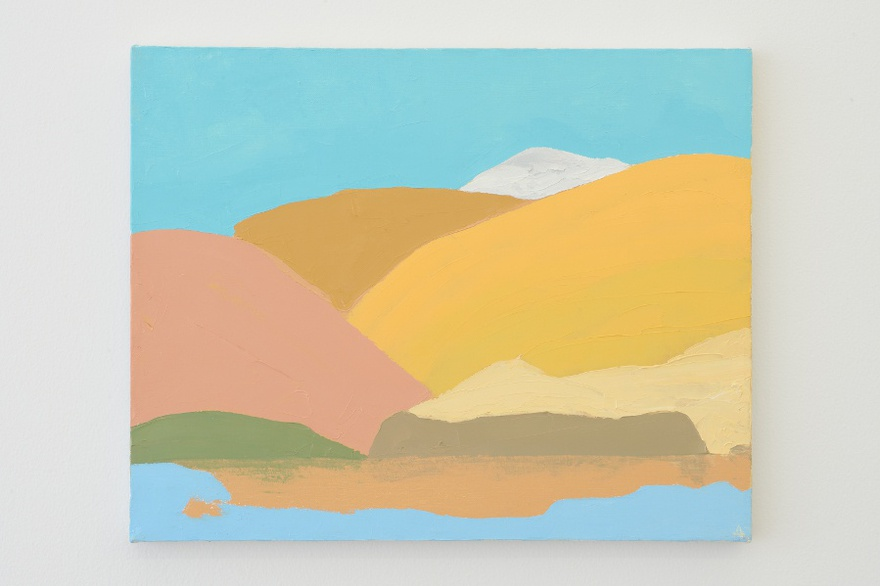 Etel Adnan, Untitled, ca.1995-2000, oil on canvas, 40 x 50cm.