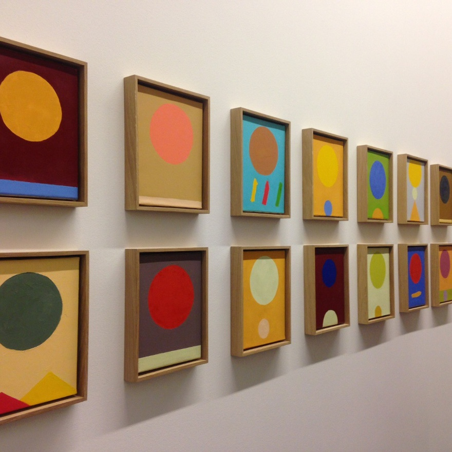 Etel Adnan, Le poids du monde (The Weight of the World), 2016. Installation view, Serpentine Sackler Gallery.