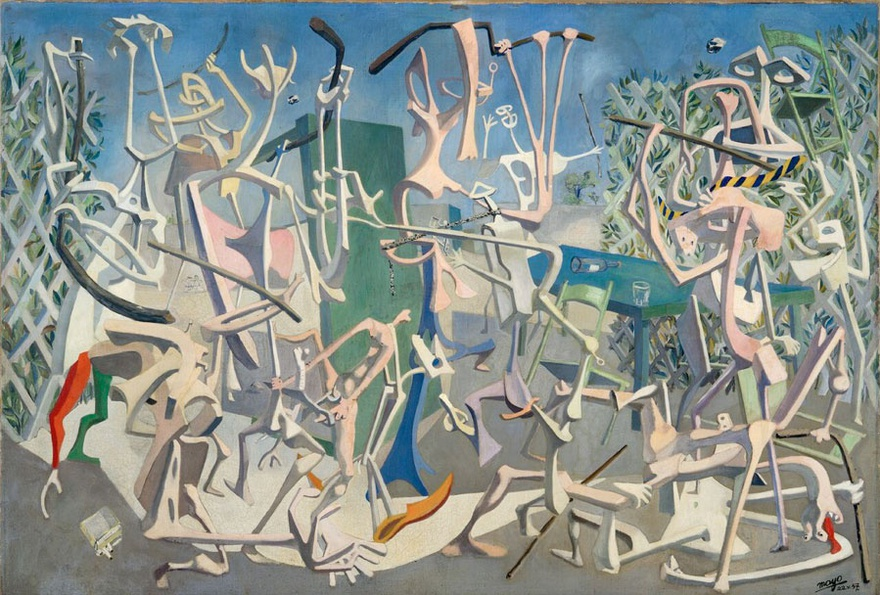 Mayo, Coup de Batons, 1937. Oil on canvas, 167 x 243 cm.