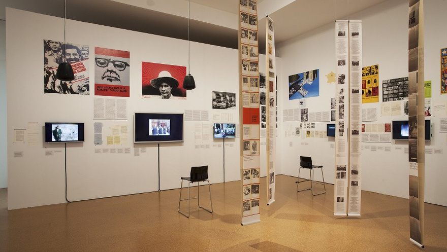 Past Disquiet, Narratives and Ghosts from the International Art Exhibition for Palestine, 1978, exhibition view, 2015, MACBA.