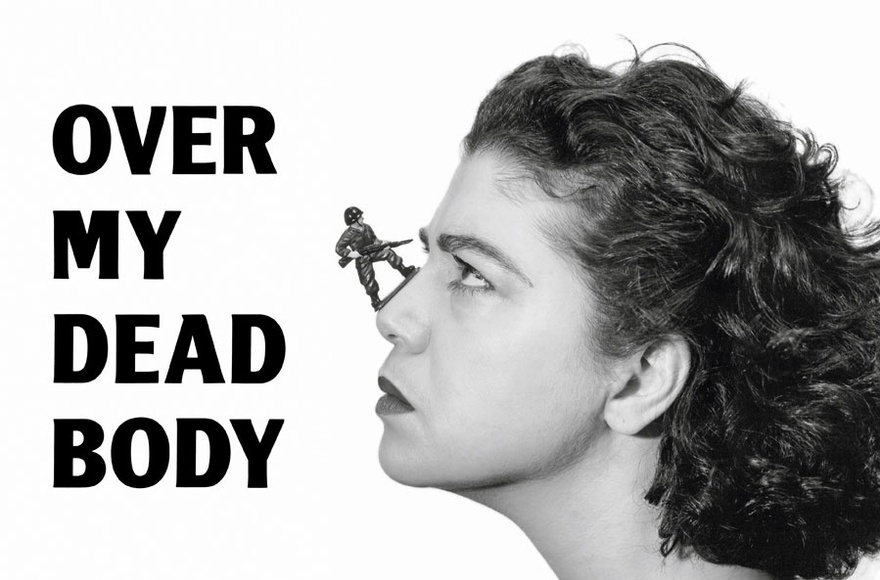Mona Hatoum, Over My Dead Body, 1988. Inkjet on paper, 204 x 304.