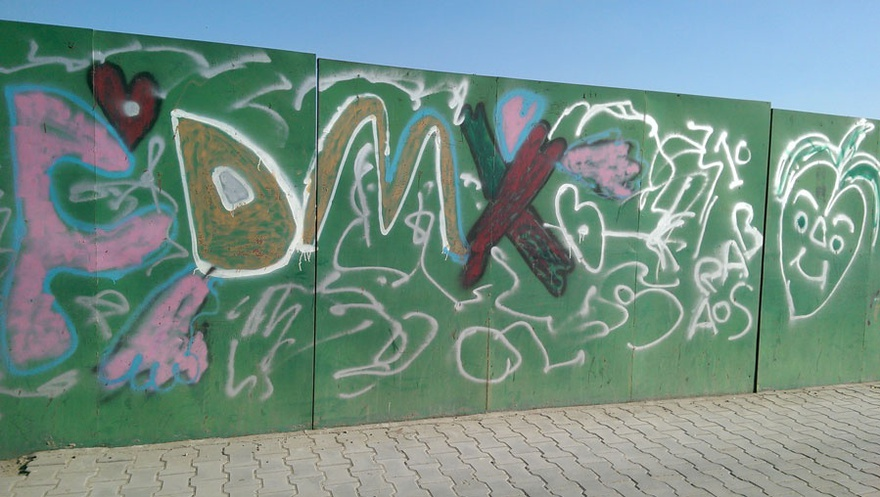 Graffiti drawing scattered on the walls and bridges in Baghdad from the chapter 'Phenomena'.