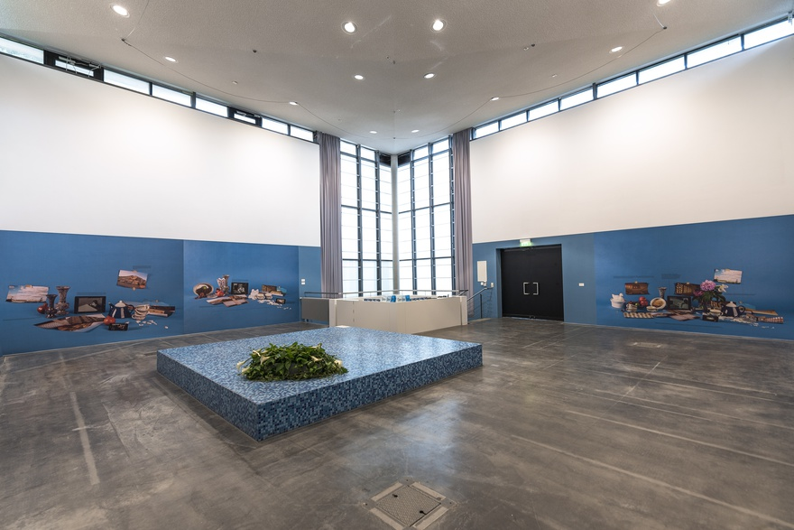 Mahmoud Khaled, A New Commission for an Old State, 2016. Installation view at Edith Russ Haus für Mediakunst, Oldenburg.