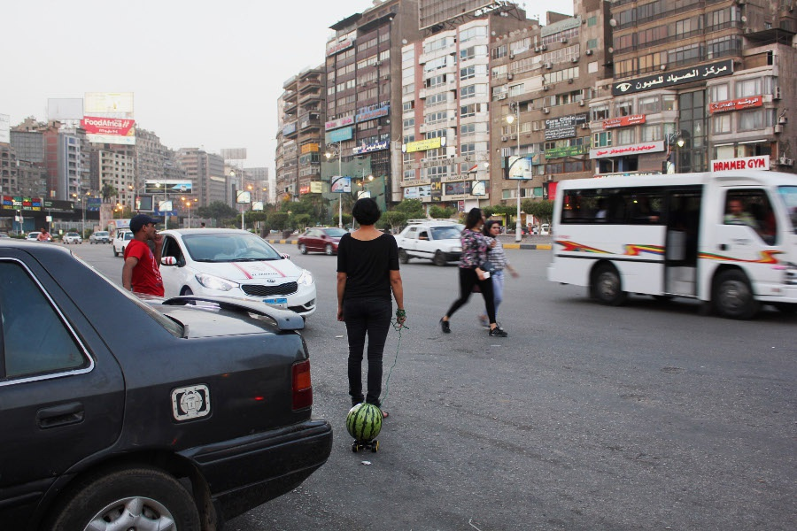 walking a watermelon in cairo heba amin heba amin walking the watermelon in cairo